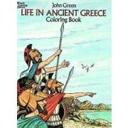 life in ancient greece coloring book - john green - dover pubns