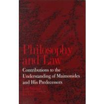 portada philosophy and law,contributions to the understanding of maimonides and his predecessors