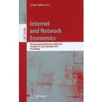 portada internet and network economics,6th international workshop, wine 2010 stanford, ca, usa, december 13-17, 2010 proceedings