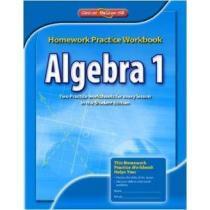 portada algebra 1,homework practice workbook