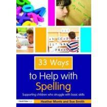 portada 33 ways to help with spelling,supporting children who struggle with basic skills