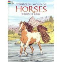 portada wonderful world of horses coloring book