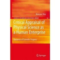 portada critical appraisal of physical science as a human enterprise,dynamics of scientific progress