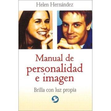 portada manual de personalidad e imagen. brilla con luz