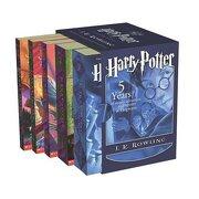 harry potter boxset: #1-#5 (pb) - rowling - scholastic