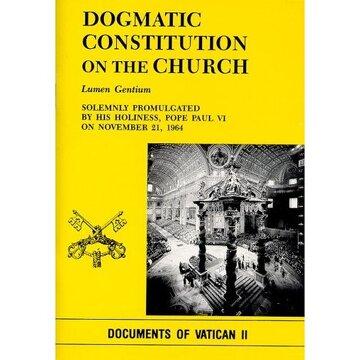 portada dogmatic constitution on the church: lumen gentium