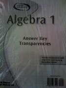 algebra 1 answer key transparencies 2003 - mcgraw-hill glencoe - mc graw-hill