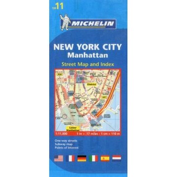 portada michelin map 11 new york city: manhattan