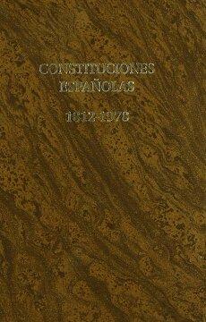 portada Constituciones Españolas 1812-1978.