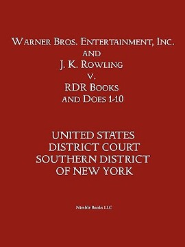 portada warner bros. entertainment, inc. & j. k. rowling v. rdr books and 10 does