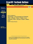 Studyguide for Psychology: Core Concepts by Philip Zimbardo, ISBN 9780205474455 - Cram101 Textbook Reviews - Academic Internet Publishers