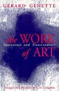 The Work of Art - Genette, Gerard - Cornell University Press
