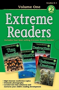 portada extreme readers grades k-1, volume 1: tiny terrors/destruction earth/fantastic planet/undercover creatures