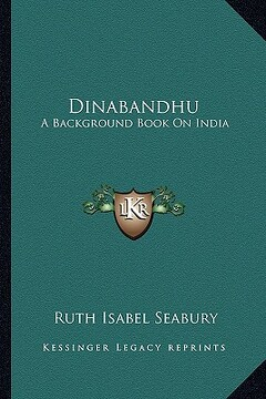 portada dinabandhu: a background book on india