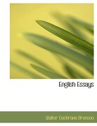English Essays - Bronson, Walter Cochrane - BiblioLife