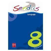 portada sendas 8 lenguaje - preparación simce 8 - editorial sm - octavo básico