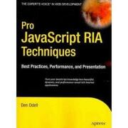 pro javascript ria techniques,best practices, performance and presentation - den odell - springer-verlag new york inc