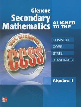 portada glencoe secondary mathematics to the common core state standards, algebra 1 se supplement