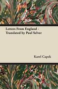 Letters from England - Translated by Paul Selver - Capek, Karel - Sanford Press