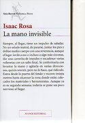 LA MANO INVISIBLE. Avance editorial. Versión no definitiva. - Rosa, Isaac. - Seix Barral.