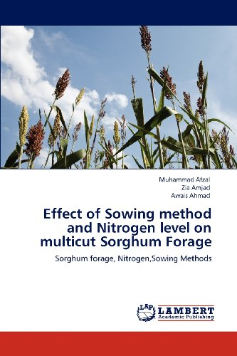 Effect of sowing method and nitrogen level on multicut sorghum forage; afzal, muhammad