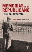 Memorias De Un Republicano - Tony Judt,Manuel  Azcarate Diz - Taurus