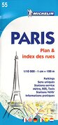 plan paris + (index rues) 55 - varios autores - michelin