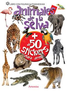 portada Animales de la Selva + de 50 Stickers para Armar