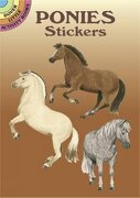 ponies stickers - john green - dover publications