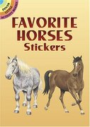 favorite horses stickers - john green - dover publications
