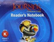 Journeys: Common Core Reader's Notebook Consumable Volume 1 Grade k (libro en Inglés) - Houghton Mifflin Harcourt - Houghton Mifflin Harcourt