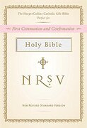 holy bible,new revised standard version, white, harpercollins catholic gift bible -  - harpercollins