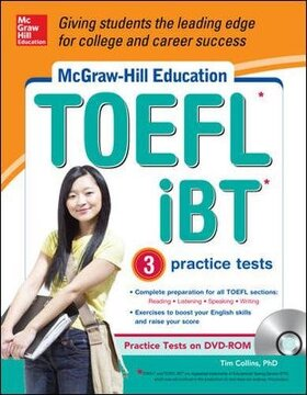 portada Mcgraw-hill Education Toefl Ibt With 3 Practice Tests And Dvd-rom (book & Cd)