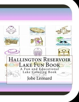 portada Hallington Reservoir Lake Fun Book: A Fun and Educational Lake Coloring Book