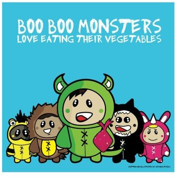 portada Boo Boo Monsters: Love Eating Their Vegetables
