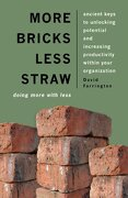 More Bricks Less Straw: Doing More with Less - Ancient Keys to Unlocking Potential and Increasing Productivity Within Your Organization - Farrington, David - IVP Books