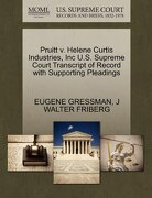 Pruitt V. Helene Curtis Industries, Inc U.S. Supreme Court Transcript of Record with Supporting Pleadings - Gressman, Eugene - Gale, U.S. Supreme Court Records