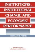 Institutions, Institutional Change and Economic Performance Paperback (Political Economy of Institutions and Decisions) (libro en Inglés) - Douglass C. North - Cambridge University Press