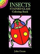 insects stained glass coloring book - john green,coloring books - dover publications