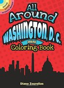 All Around Washington, D.C. Mini Coloring Book (Dover Publications Inc)