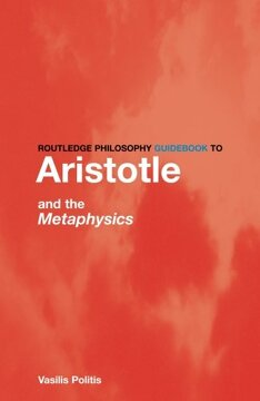 portada Routledge Philosophy Guidebook to Aristotle and the Metaphysics (Routledge Philosophy Guidebooks) (libro en Inglés)