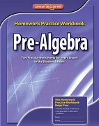 pre-algebra homework practice workbook - glencoe mcgraw-hill - mc graw-hill