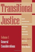 Transitional Justice: How Emerging Democracies Reckon With Former Regimes, Volume i: General Considerations (libro en Inglés) - Neil J. Kritz - United States Institute Of Peace
