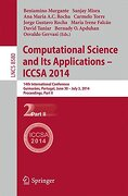 Computational Science and Its Applications - ICCSA 2014: 14th International Conference, Guimarães, Portugal, June 30 - July 3, 204, Proceedings, Part II (Lecture Notes in Computer Science)