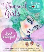 Whimsical Girls (Happy Hour Art Journal) (libro en Inglés)