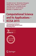 Computational Science and its Applications -- Iccsa 2015: 15Th International Conference, Banff, ab, Canada, June 22-25, 2015, Proceedings, Part ii (Theoretical Computer Science and General Issues) (libro en Inglés)