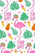 My Journal: Bright and Cheerful Flamingo fun day 108 Page Notebook (Flamboyant Flamingos and Monster Monstera Collection) (libro en inglés)