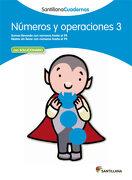 Numeros y Operaciones 3 Santillana Cuadernos - 9788468012292 - Varios Autores - Santillana