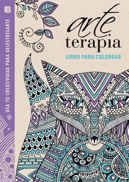 portada Arte Terapia: Libro Para Colorear: Usa tu Creatividad Para Desestresarte (Lila)