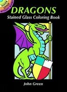 Dover Publications-Dragons Stained Glass Coloring Book (Dover Stained Glass Coloring Book) (libro en inglés) - John Green - Dover Publications